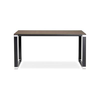 Bureau design 140x70x74 cm plateau en noyer et métal noir - WARNY