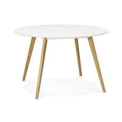 Table à manger ronde 120 cm en chêne blanc et naturel - BALTIC