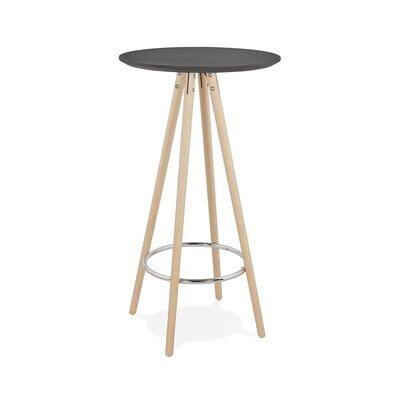 Table de bar ronde 60 cm en hêtre noir et naturel - BALTIC