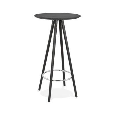 Table de bar ronde 60 cm en hêtre noir - BALTIC