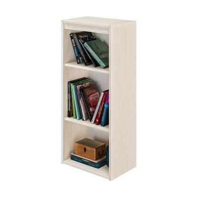 Bibliothèque 3 niches 44x30x102 cm décor chêne clair - ENZI