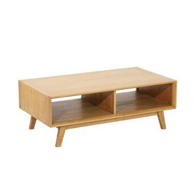 Table basse 110 cm en teck naturel - JEPARA