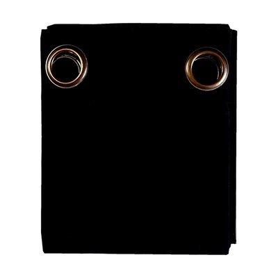 Rideau à œillets 135x250 cm en coton noir - YUNI