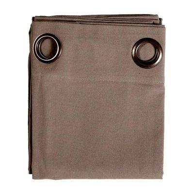 Rideau à œillets 135x250 cm en coton taupe - YUNI
