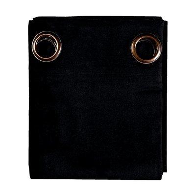 Rideau à œillets 135x250 cm en coton anthracite - YUNI