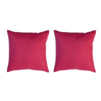 Lot de 2 coussins carrés 50 cm en coton fuchsia - YUNI