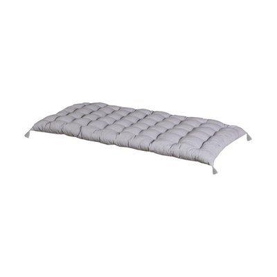 Coussin 120x60 cm avec pompons en coton gris clair - YUNI
