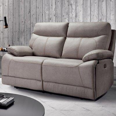 Canapé de relaxation électrique 2 places en microfibre gris