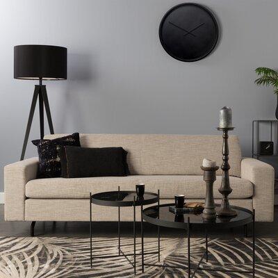 Canapé 2,5 place 204x90x80 cm en tissu beige - JEAN