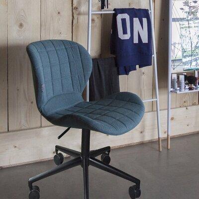Chaise de bureau vintage en tissu bleu - OMG