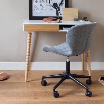 Chaise de bureau vintage en tissu gris - OMG