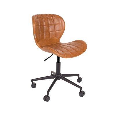 Chaise de bureau vintage en PU marron - OMG