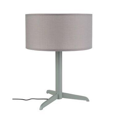 Lampe de table 36x48 cm en tissu et métal gris - SHELBY