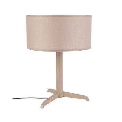 Lampe de table 36x48 cm en tissu et métal taupe - SHELBY