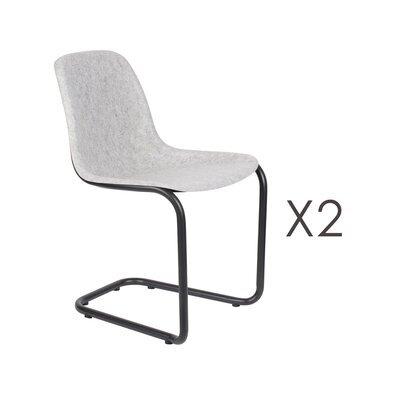 Lot de 2 chaises 52x55x78,5 cm gris clair - THIRSTY