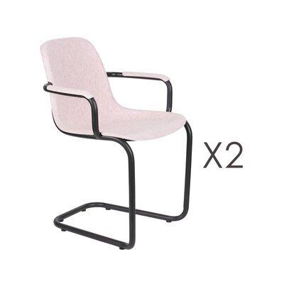 Lot de 2 chaises avec accoudoirs 59x55x78,5 cm rose - THIRSTY