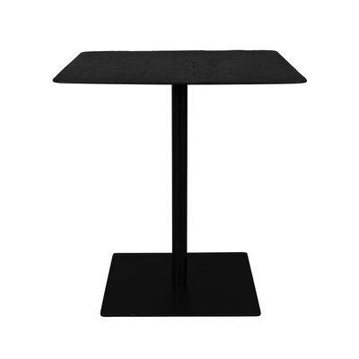 Table carrée 70x75 cm décor pin noir et métal - BRAZA