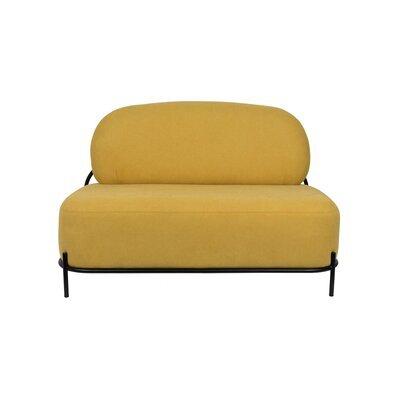 Canapé 125x71,5x77 cm en tissu jaune - CELLO