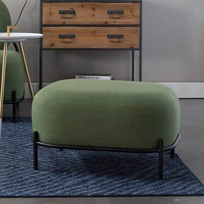 Repose-pieds 66x50,5x36 cm en tissu vert - CELLO