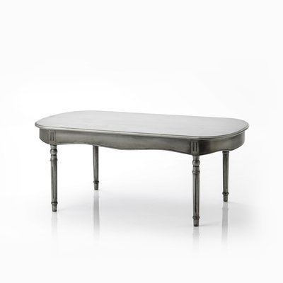 Table basse 110x60x45 cm en bois argenté vieilli - LUCA