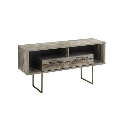 Meuble TV 2 tiroirs 120x42x62 cm - CHICAGO