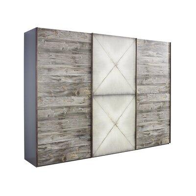 Armoire 3 portes coulissantes 300x69x223 cm - CHICAGO