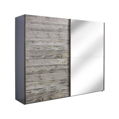 Armoire 2 portes coulissantes avec miroir 250x69x223 cm - CHICAGO