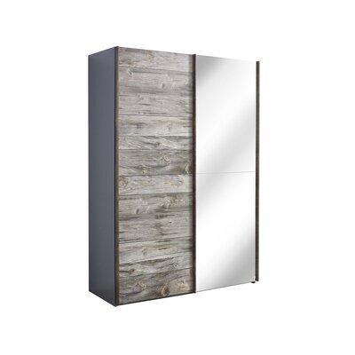 Armoire 2 portes coulissantes avec miroir 151x69x223 cm - CHICAGO