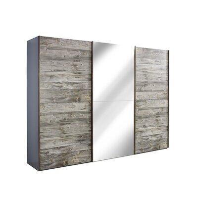 Armoire 3 portes coulissantes avec miroir 300x69x223 cm - CHICAGO