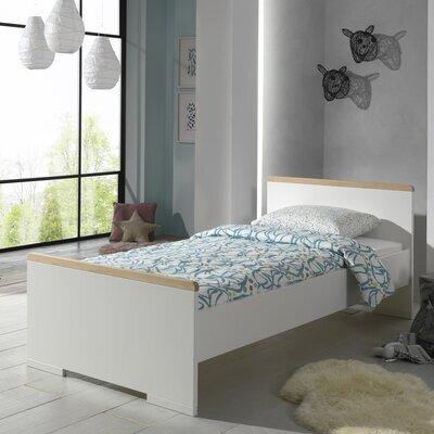 Lit 1 place 90x200 cm blanc et naturel - BILLY