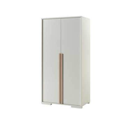 Armoire 2 portes blanc et naturel - BILLY