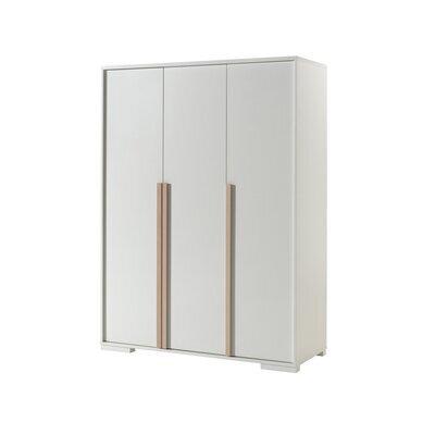 Armoire 3 portes blanc et naturel - BILLY