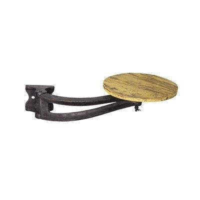 Tabouret à fixer 30x56 cm en métal et bois jaune - MESNIL