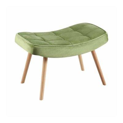 Repose-pieds 60x38x37 cm en velours vert clair - MELHA
