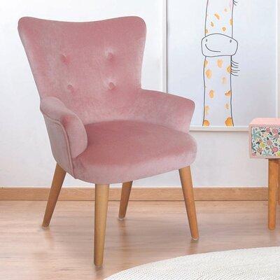 Fauteuil pour enfant 44,5x50x63 cm en tissu rose - JOFFRY