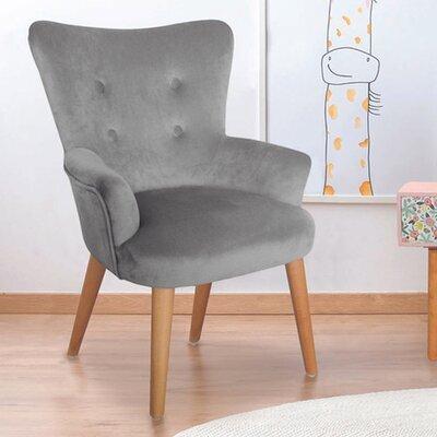 Fauteuil pour enfant 44,5x50x63 cm en tissu gris clair - JOFFRY