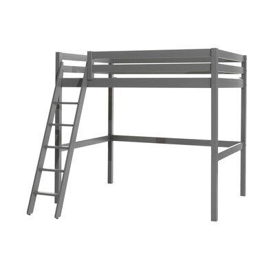 Lit surélevé 140x200 cm gris - PINO