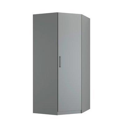 Armoire d'angle 1 porte 100/100x60x219 cm grise - JANSEN