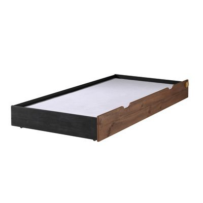 Tiroir pour lit 90x200 cm marron et noir - BORY