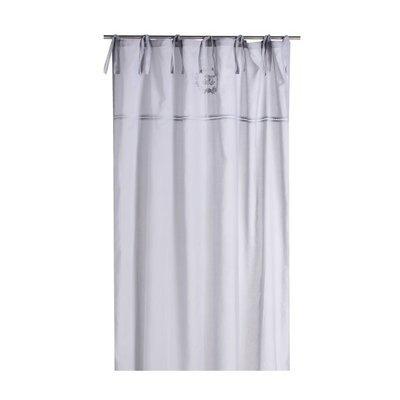 Rideau à œillets 135x250 cm en voile gris clair - CASTLE