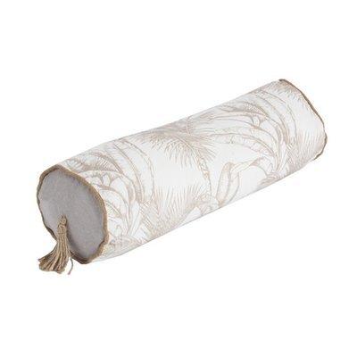 Coussin pour accoudoir 50x15 cm imprimé blanc et beige - BAHAMA