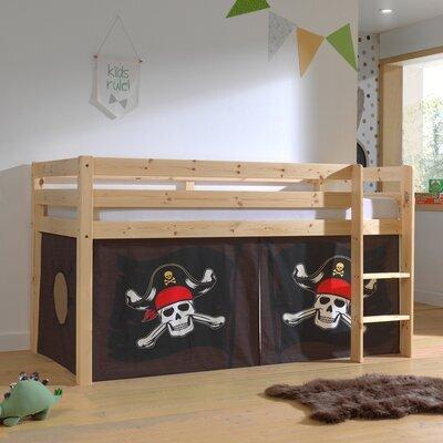 Lit surélevé avec échelle naturel décor pirates - PINO