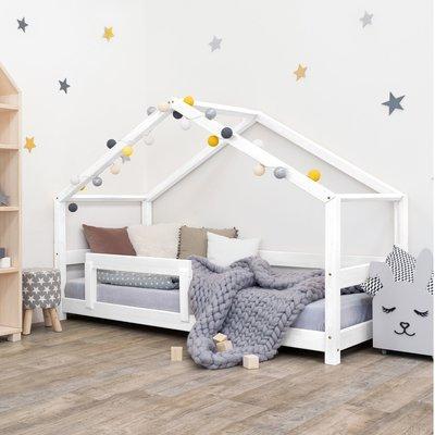 Lit cabane 90x190 cm en épicéa blanc - CABI
