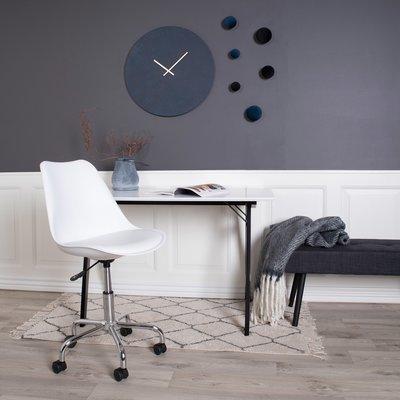 Chaise de bureau 54x48x84 cm en PU blanc - LUCIE